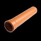 Труба 110 / 1000 мм (2.5) наружная рыжая монолитная Форт-пласт
