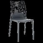 Стілець Papatya Ego-Rock антрацит сидіння, верх чорний