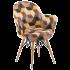 Кресло Tilia Gora-V ножки буковые, сиденье с тканью SIESTA 301