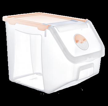Контейнер 14 л для хранения пищевых продуктов оранжевый