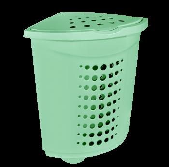 Корзина для белья (угловая) пластиковая 45 л салатовая