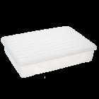 Контейнер для хранения вещей с крышкой 45л прозрачный