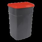 Бак сміттєвий 90л темно-сірий червоний