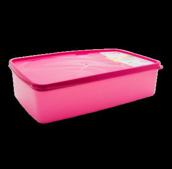Бокс для морозильной камеры 2,1 л прямоугольный Alaska розовый