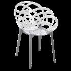 Кресло Papatya Flora прозрачно-чистое сиденье, низ антрацит