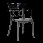 Крісло Papatya Opera-K сидіння антрацит, верх чорний