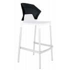 Барный стул Papatya Ego-S белое сиденье, верх черный