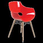 Кресло Papatya Opal-Wox красное, рама натуральный бук