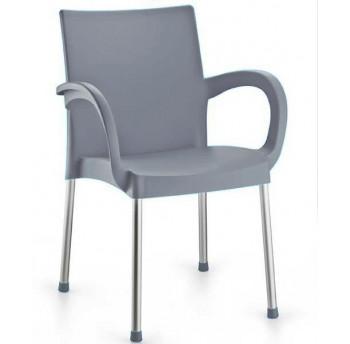Кресло Irak Plastik Sumela алюминиевые ножки серый