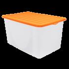 Контейнер для хранения вещей 6 л верх оранжевый, низ прозрачный