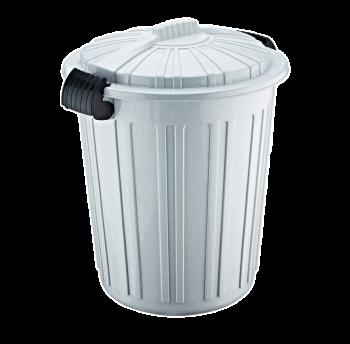 Бак для сміття Irak Plastik Luxury № 5 Herkul 73 л сірий