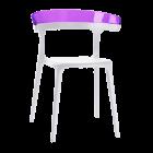 Кресло Papatya Luna белое сиденье, верх прозрачно-пурпурный