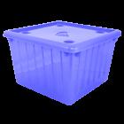 Контейнер для хранения вещей с крышкой 25л прозрачно-фиолетовый