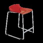 Барное кресло Papatya X-Treme Sled прозрачно-красный