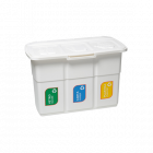 Бак для сортировки мусора 75 л Ecopat Deahome белый