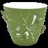 Горщик для квітів 3D 1,4 л темно-зелений