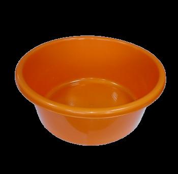 Таз круглый пищевой 10 л оранжевый