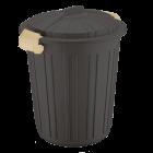 Бак для мусора Irak Plastik Luxury № 5 Herkul 73 л шокололад