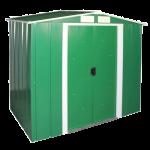 Сарай металлический ECO 202x122x185 см зеленый с белым