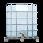 Емкость квадратная в обрешетке с металлическим краном 1000 л