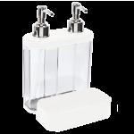 Органайзер для ванної та кухні Planet 0,5 + 0,3 л білий