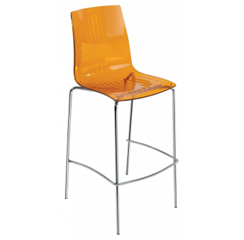 Барный стул Papatya X-Treme BSL прозрачно-оранжевый