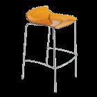 Стілець барний Papatya X-Treme BSS прозоро-помаранчевий