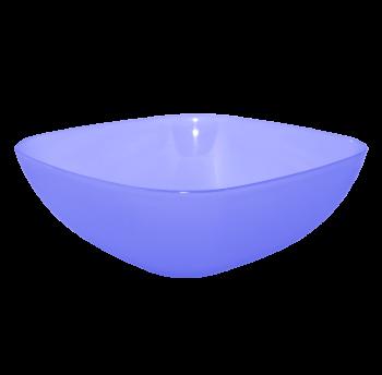 Тарелка (глубокая) 15х15х5,5 см прозрачно-фиолетовая