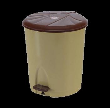 Ведро для мусора с педалью 13л №3 СК 003 коричневое