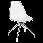 Стул Tilia Eos-Z ножки металлические черный - белая слоновая кость