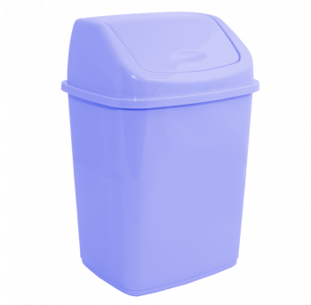 Ведро для мусора 10л с крышкой бирюзовое
