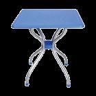 Стол квадратный Irak Plastik Alfa 70x70 голубой