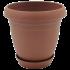 Горщик для квітів Nergiz 1,5 л коричневий