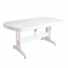 Стол Irak Plastik Oval 90x150 белый