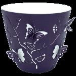 Горшок для цветов 3D 0,7 л тёмно-фиолетовый