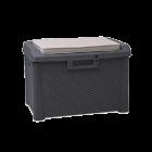Скриня пластикова Santorini Plus 125 л антрацит з подушкою Toomax