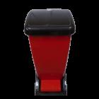 Ведро для мусора с педалью 24л СК 006 черно-красное