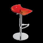 Барное кресло Papatya X-Treme B прозрачно-красный