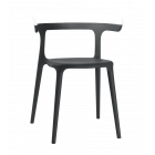 Кресло Papatya Luna черное сиденье, верх белый