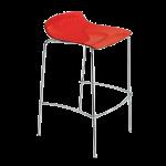 Барный стул Papatya X-Treme BSS прозрачно-красный