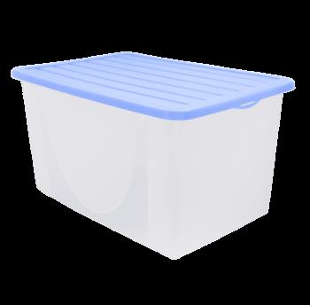 Контейнер для хранения вещей с крышкой 9,6л сиреневый