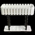 Горщик для квітів балконний з підставкою на ніжках Akasya 11 л білий