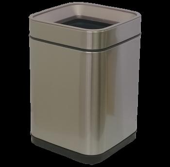 Відро для сміття JAH 8 л срібний металік без кришки з внутрішнім відром