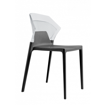 Стілець Papatya Ego-S антрацит сидіння, верх прозоро-чистий