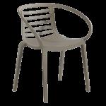 Кресло Papatya Mambo серо-коричневое