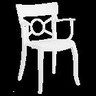 Кресло Papatya Opera-K сиденье белое, верх белый