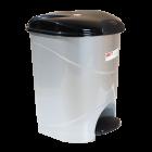 Відро для сміття з педаллю Irak Plastik Bella №2 19л сірий металік