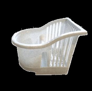 Подставка для столовых приборов белый флок