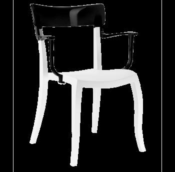 Кресло Papatya Hera-K белое сиденье, верх черный