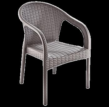 Крісло Irak Plastik Ege під ротанг сірий